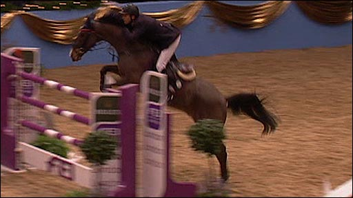 Eric van der Vleuten of the Netherlands rides VDL Groep Tomboy to victory at Olympia