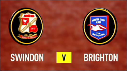 Graphic of Swindon and Brighton club badges