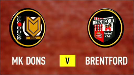 MK Dons 0-1 Brentford