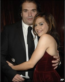 Brittany Murphy and husband Simon Monjack in LA 2007