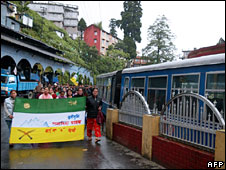 Gorkhaland supporters in Darjeeling