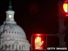 The US Capitol seen at night as senators dbated healthcare reform
