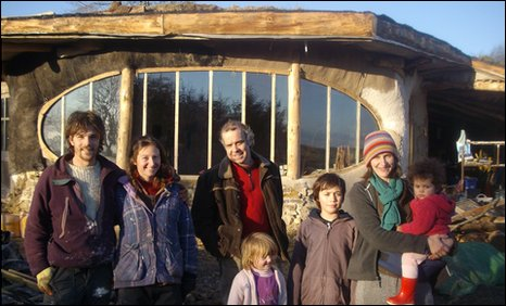 The first building in the Pembrokeshire eco-village is almost complete