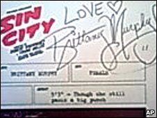 Brittany Murphy autograph