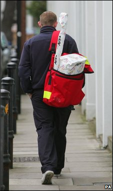 Postie on his rounds