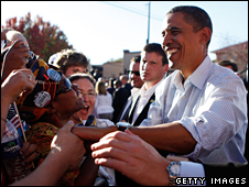 President Obama campaigning in Pueblo, Colorado in October 2008