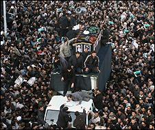 Funeral ceremony for Grand Ayatollah Hoseyn Ali Montazeri