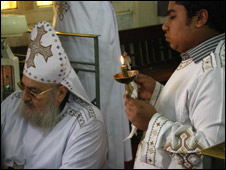 Coptic communion ceremony