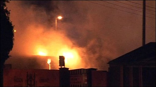 Fire at Carrick Rangers football club