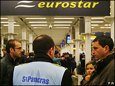 Eurostar terminal at St Pancras