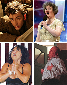 David Tennant, Susan Boyle, Phil Mitchell, Nadia Almada