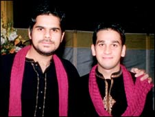 Ali Mustafa (left) with Bilal Riaz