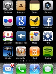 iPhone screengrab
