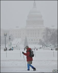 Snow in Washington DC, US (19 December 2009)