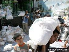 Palestinians in Gaza