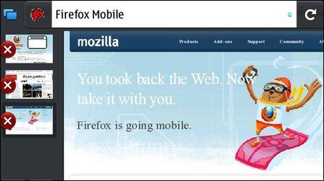 Firefox mobile screen grab
