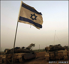 Israeli tanks on the edge of Gaza