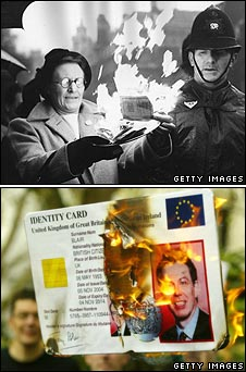 ID card burnings in 1951 and more recently