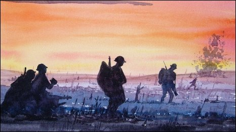 A watercolour of WWI.