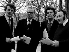 SDLP: Austin Currie, Gerry Fitt, John Hume and Paddy Devlin