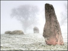 Long Meg in the mist