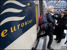 Passengers arrive at St Pancras