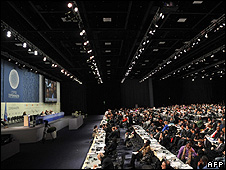 Plenary hall at the Copenhagen summit (Image: AFP)