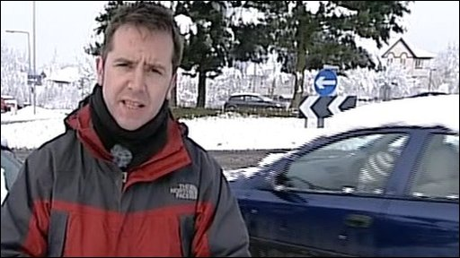 BBC reporter Tom Hepworth