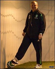Hibs manager John Hughes