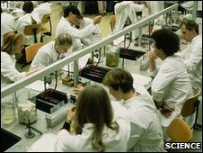 Generic image of students in science lab
