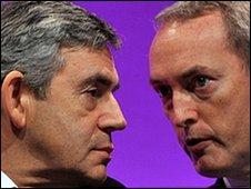 Gordon Brown and John Hutton