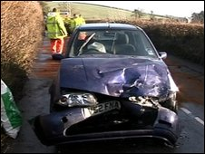Car accident at Avonwick