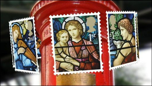 Christmas stamp graphic