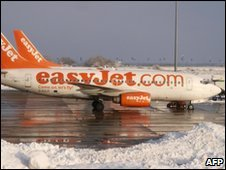 Services from Luton Airport have been severely disrupted by snow