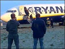 Ryanair plane at Prestwick