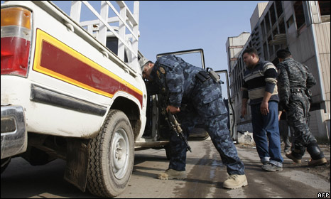 Baghdad security checkpoint
