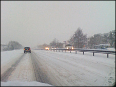 M8 near Livingston