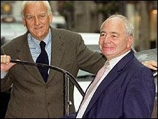 Colin Dexter with the late Morse actor John Thaw