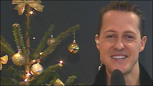 Michael Schumacher talks to the BBC