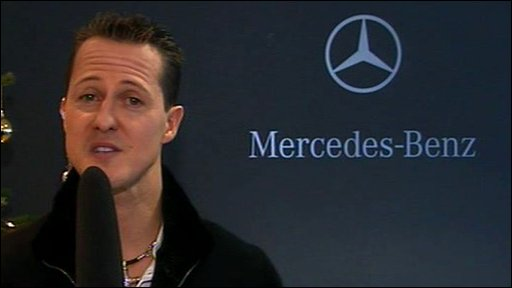 New Mercedes driver Michael Schumacher