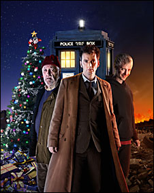 Bernard Cribbins, David Tennant and John Simm