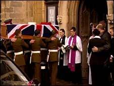Lance Corporal Adam Drane's funeral