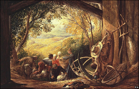 Samuel Palmer's The Shearers