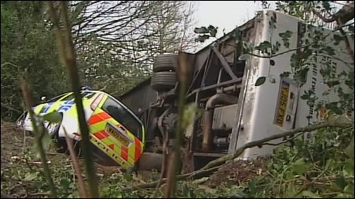Cornwall crash scene