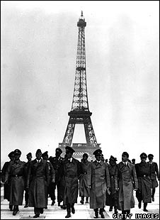 Hitler and his coterie in Paris