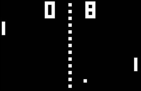 A screenshot of Pong