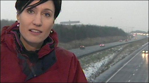 Fiona Trott by the A1 in Gateshead