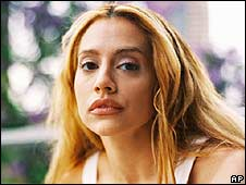 Brittany Murphy, pictured in 2009 on the set of Abandoned