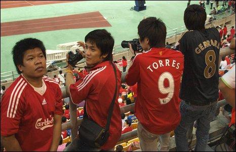 Fans at a match in Bangkok