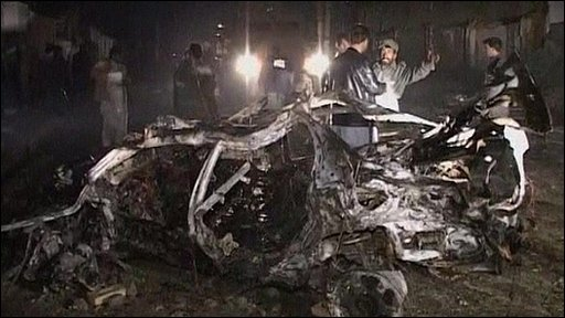 Suicide bomb aftermath
